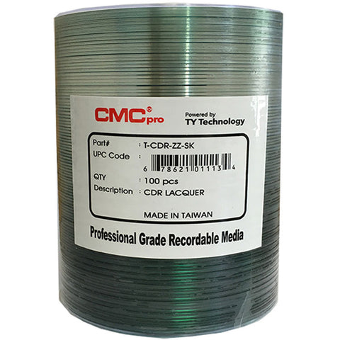 CMC Pro CD-R Silver Lacquer - 100 Pack