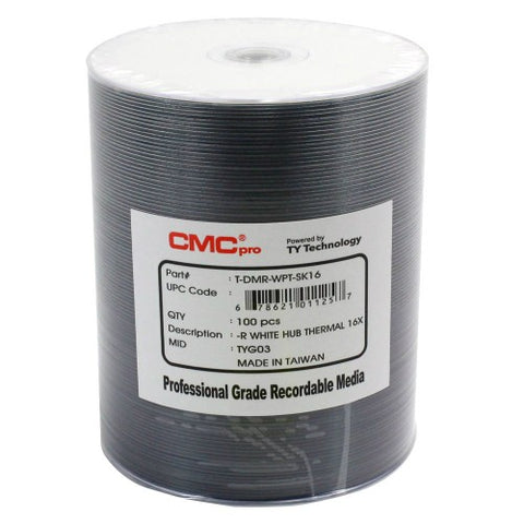 CMC Pro DVD-R 4.7 GB White Thermal (Everest) - 100 Pack