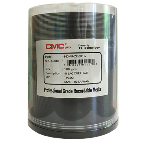 CMC Pro DVD-R 4.7 GB Silver Lacquer - 100 Pack