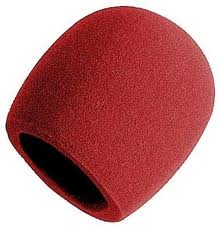 Universal Red Windscreen for Microphone