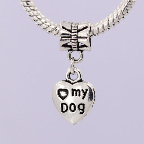 """Love My Dog"" Heart Bead - 50% OFF - Wondersaleshop"