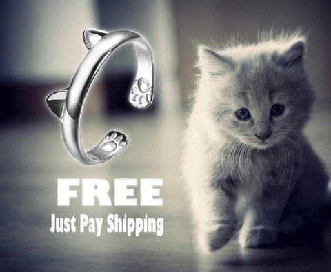 Beautiful Silver Cat Ring ♥Limited Edition♥ - Wondersaleshop