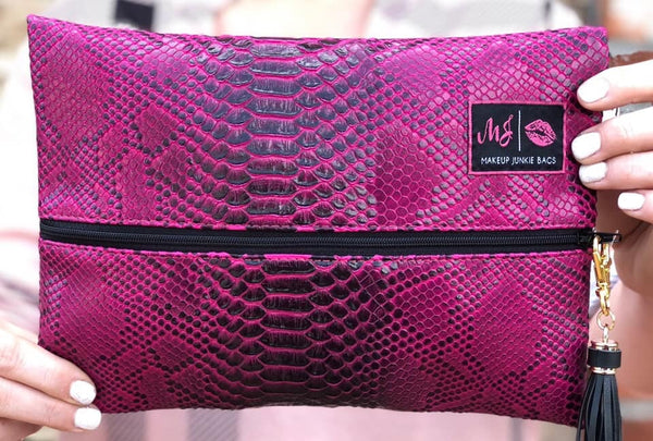 bd239b380170 Magenta Cobra Bag from Makeup Junkie Bags – Gypsy Hearts Boutique