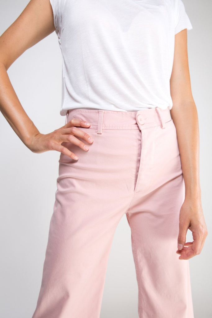 Ryan High Waisted Wide Leg Pants - Pink
