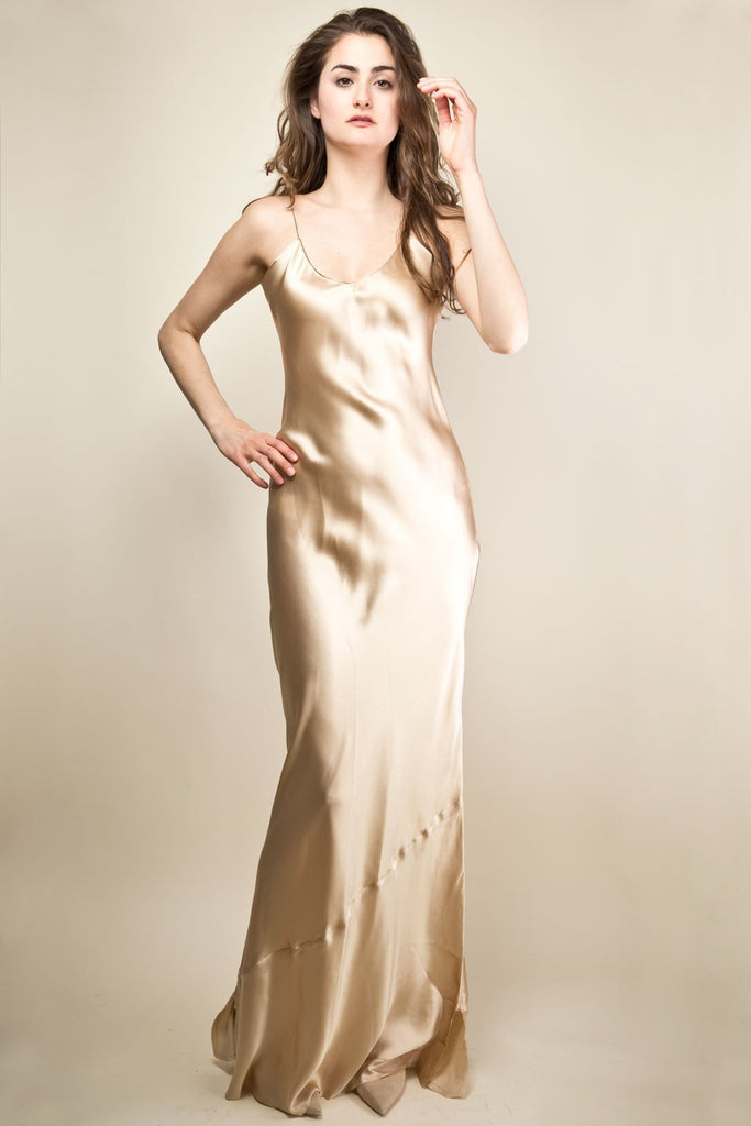 Pippa Long Slip Dress - Champagne