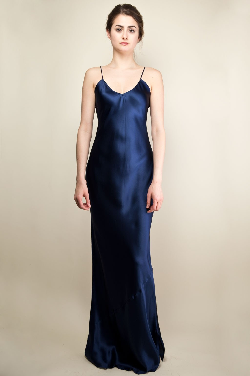 Pippa Long Slip Dress - Royal Blue