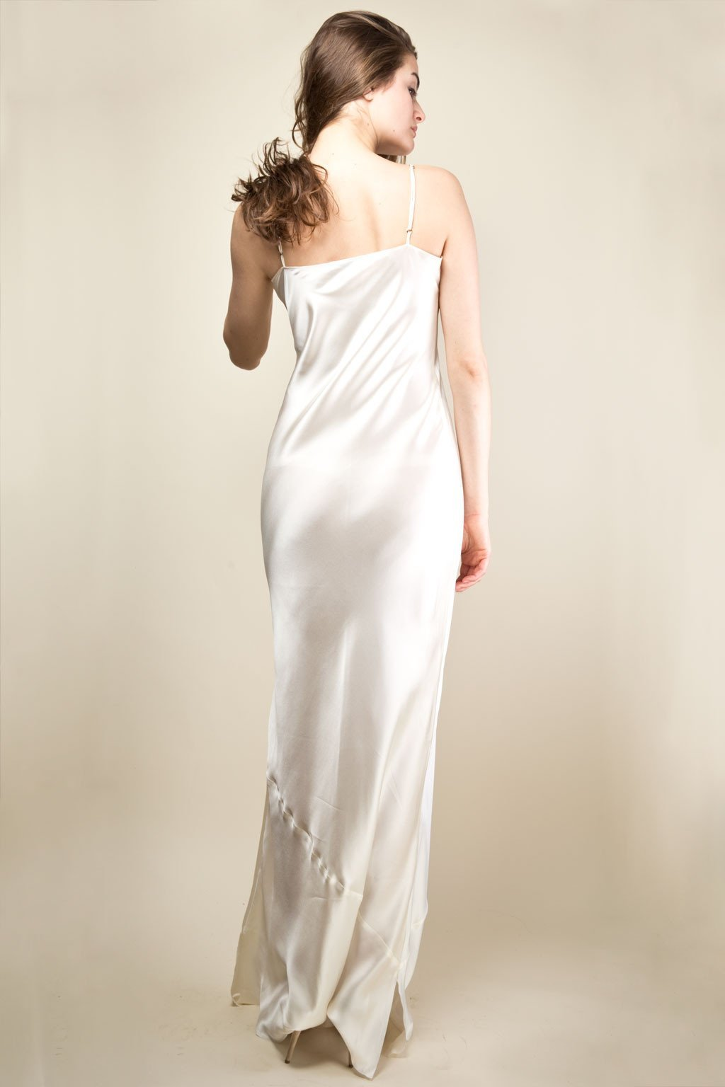 Pippa Long Slip Dress - Ivory