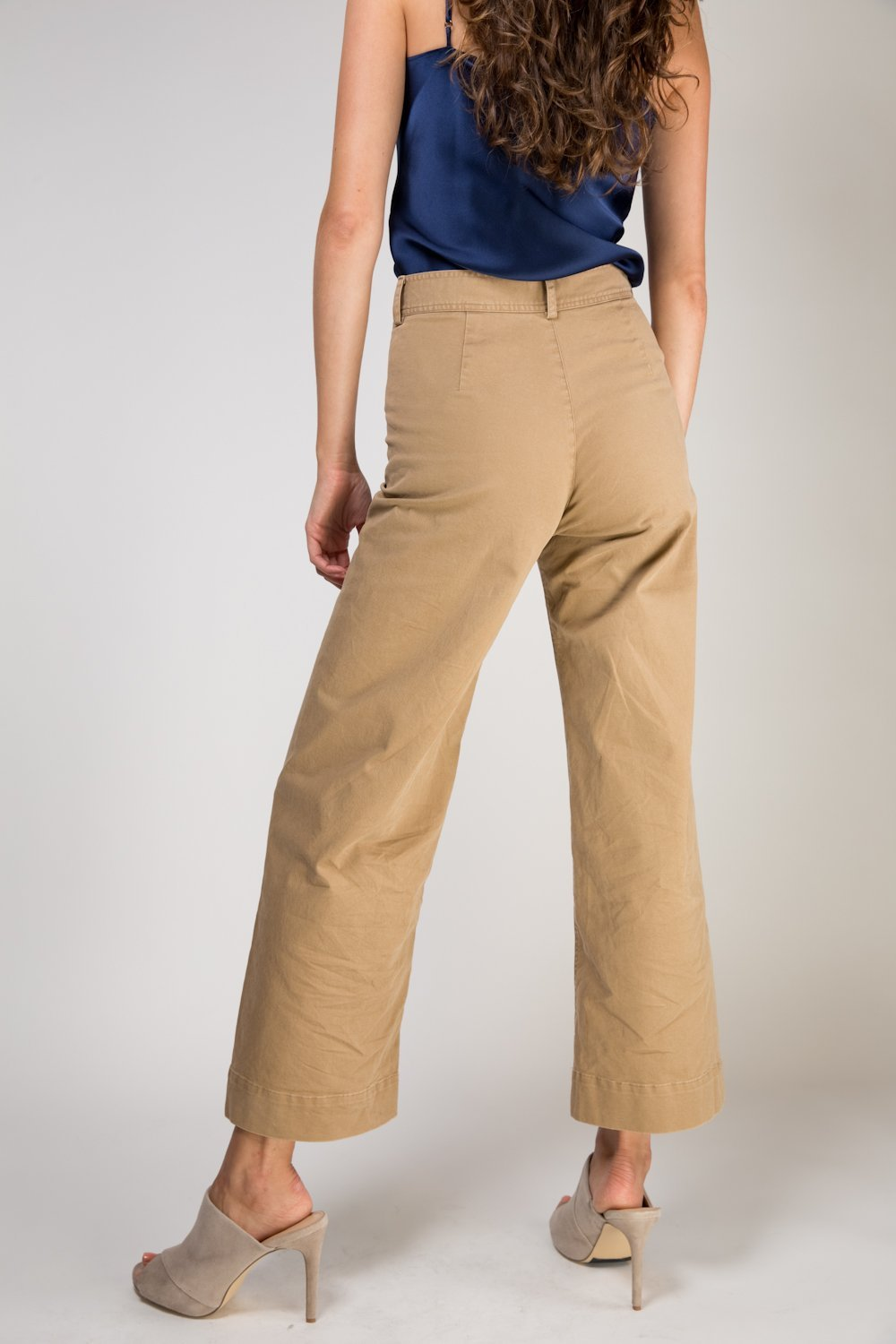 Ryan High Waisted Wide Leg Pants - Khaki