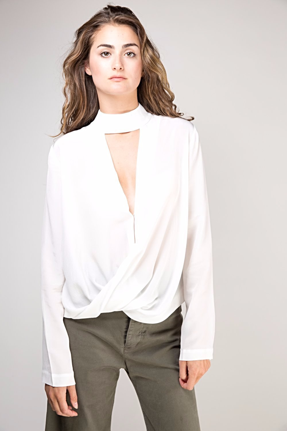 Dixie Silk Top -  White