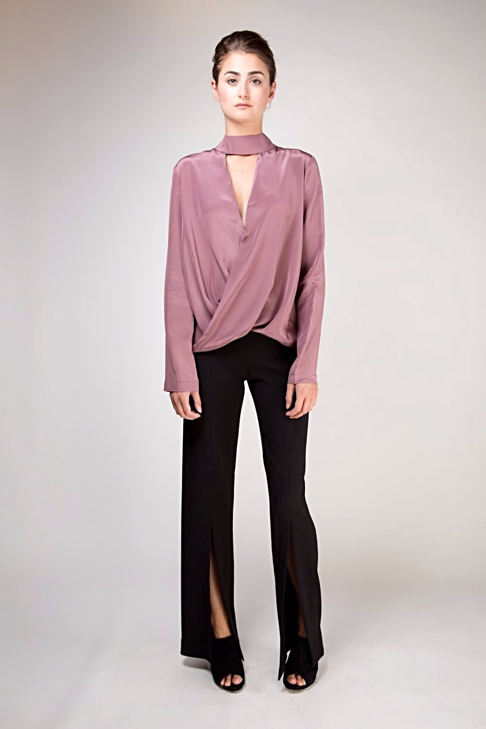 Dixie Silk Top -  Plum