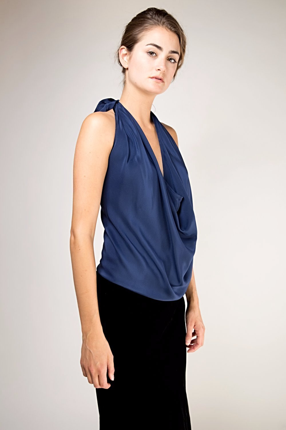 O'hara Silk Top - Royal Blue