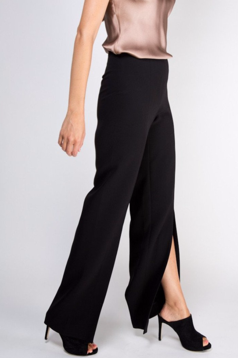 Taylor Pant With Slits - Black