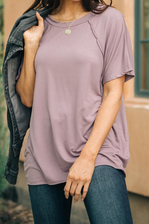 Cozy Cool Tee in Lavender RH