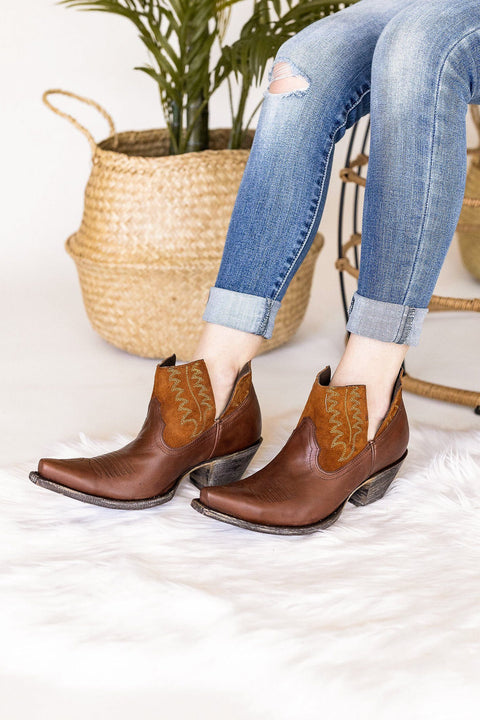 Old Gringo Myrna Ankle Boot in Chocolate/Cognac