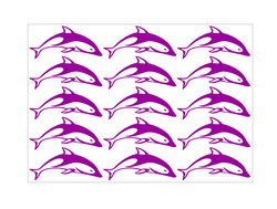 Tribal Dolphins Stickers