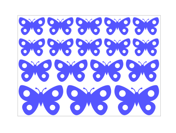 Cartoon Butterfly Stickers