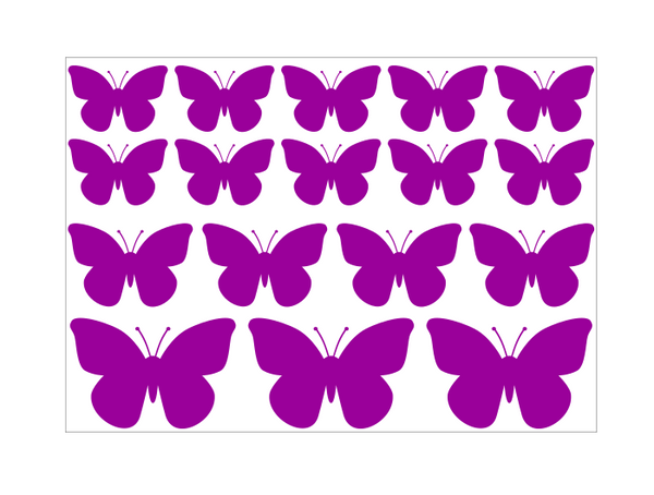 Plain Butterfly Stickers