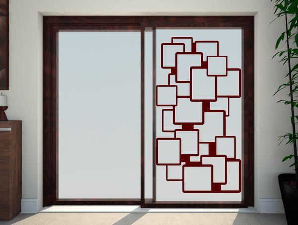 Breakout Squares Patio Doors Stickers Glass Safety