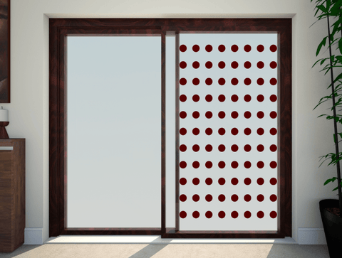Dots Glass Patio Door Stickers & Dots Patio Doors Stickers glass safety transfers uk
