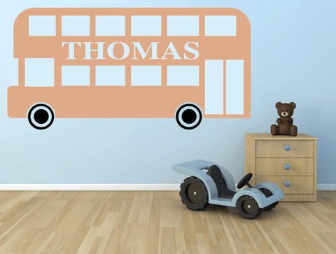 Personalised london bus wall stickers