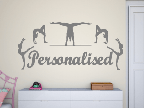 ... Personalised Gymnasts Wall Stickers ...