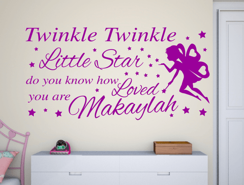 ... Girls Personalised Twinkle Star Wall Stickers ... Part 92