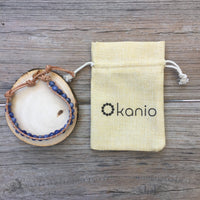 Kanio Dark Sea - Blue Spot Stone Bracelet - Hope, Tranquility, and Calming