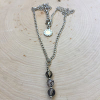 Stone - Black and White Agate Necklace - Courage, Protection, Love, and Longevity