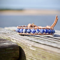 Dark Sea - Blue Spot Stone Bracelet - Hope, Tranquility, and Calming