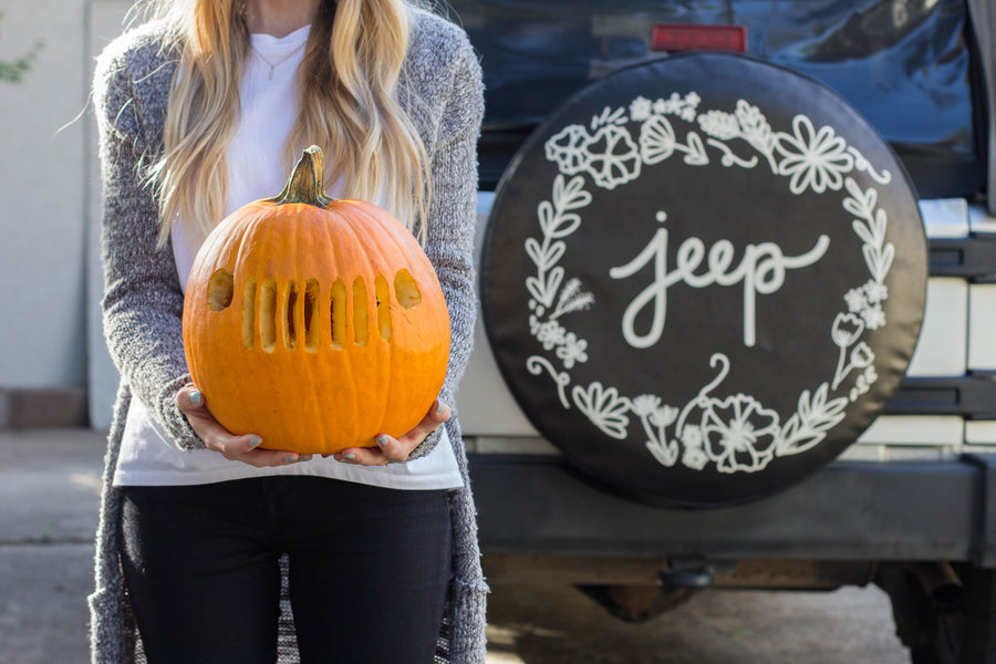 Free Jeep Pumpkin Carving Template + Our Favorite Pumpkin Seed Recipe