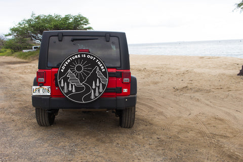 Adventure Is Out There Tire Cover