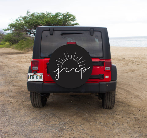 Jeep Sun and Wave Tire Cover
