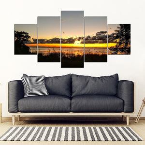 "Outer Banks ""Albemarle Sunset"" 5 Panel Wall Art"