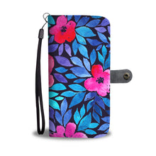 Load image into Gallery viewer, Floral/Watercolor/Wallet Phone Case