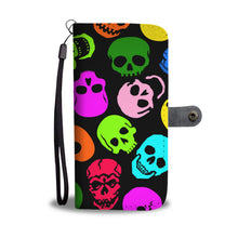 Load image into Gallery viewer, Skulls/Multi Color/Wallet Phone Case