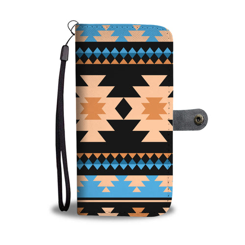 Southwest/Navajo/Native American/Blue/Brown/Phone Case/Wallet