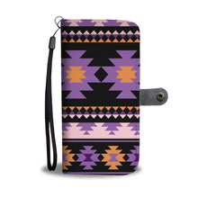 Load image into Gallery viewer, Southwest/Navajo/Native American/Purple/Black/Phone Case/Wallet