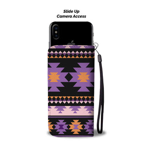 Southwest/Navajo/Native American/Purple/Black/Phone Case/Wallet