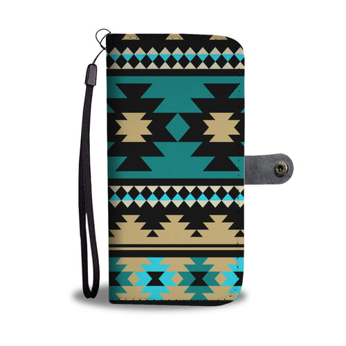 Southwest/Navajo/Native American/Green/Black/Phone Case/Wallet