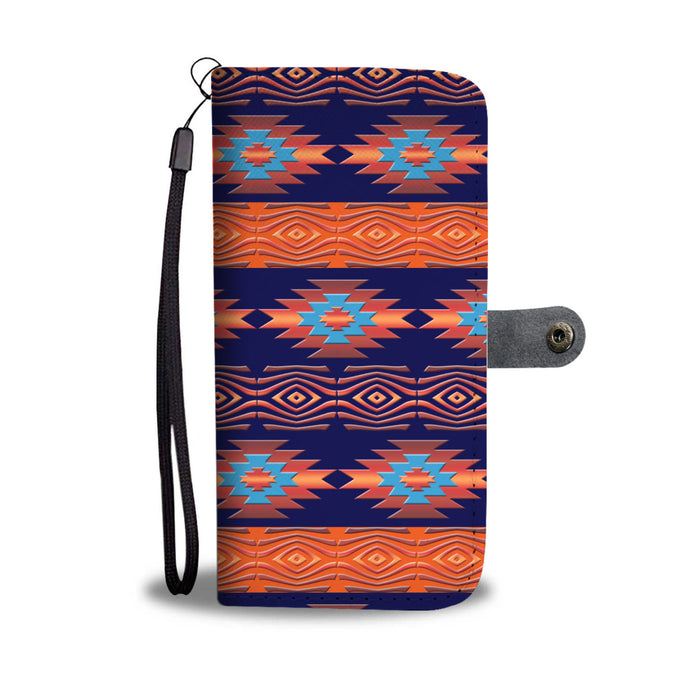 Southwest/Navajo/Native American/Blue/Orange/Phone Case/Wallet