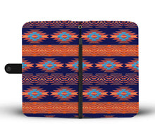Load image into Gallery viewer, Southwest/Navajo/Native American/Blue/Orange/Phone Case/Wallet
