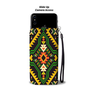 Southwest/Navajo/Native American/Green/Yellow/Phone Case/Wallet