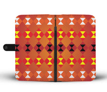 Load image into Gallery viewer, Southwest/Navajo/Native American/Orange/Phone Case/Wallet