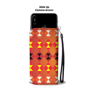Southwest/Navajo/Native American/Orange/Phone Case/Wallet