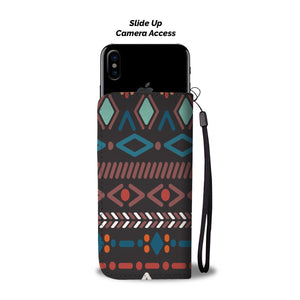 Southwest/Navajo/Native American/Blue/Diamond/Phone Case/Wallet