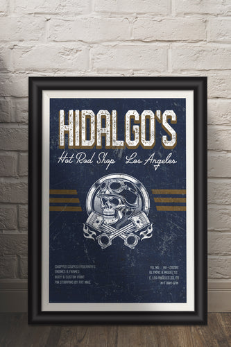 Hidalgo's/Hot Rod/Cars/Racing/Hot Rods/Vintage/Print/Poster/Art