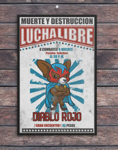 Load image into Gallery viewer, Luche Libre//Match Poster 1/Mexican Wrestler/Wrestler/Vintage/Print/Poster/Art