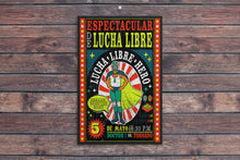 Load image into Gallery viewer, Luche Libre//Match Poster 3/Mexican Wrestler/Wrestler/Vintage/Print/Poster/Art