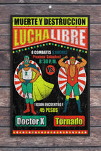 Load image into Gallery viewer, Luche Libre//Match Poster 4/Mexican Wrestler/Wrestler/Vintage/Print/Poster/Art