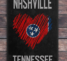 Load image into Gallery viewer, Nashville/Heart/Tennessee/Nashville Travel Poster